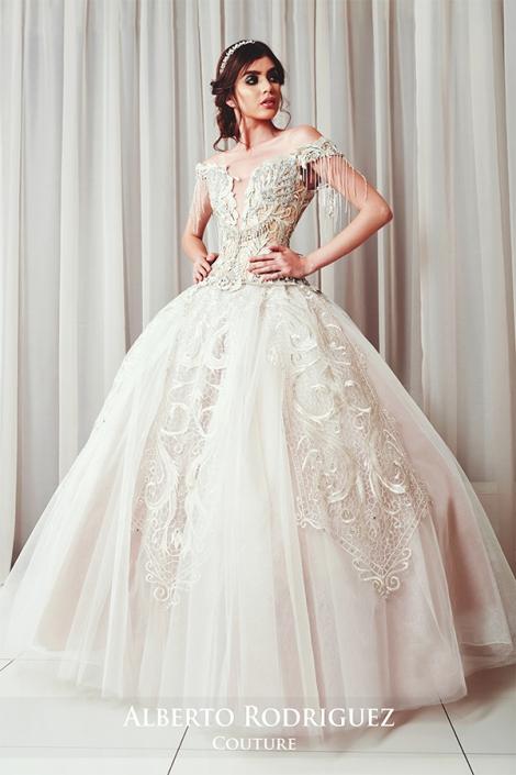 vestido de novia 2 piezas bordado de pedrería