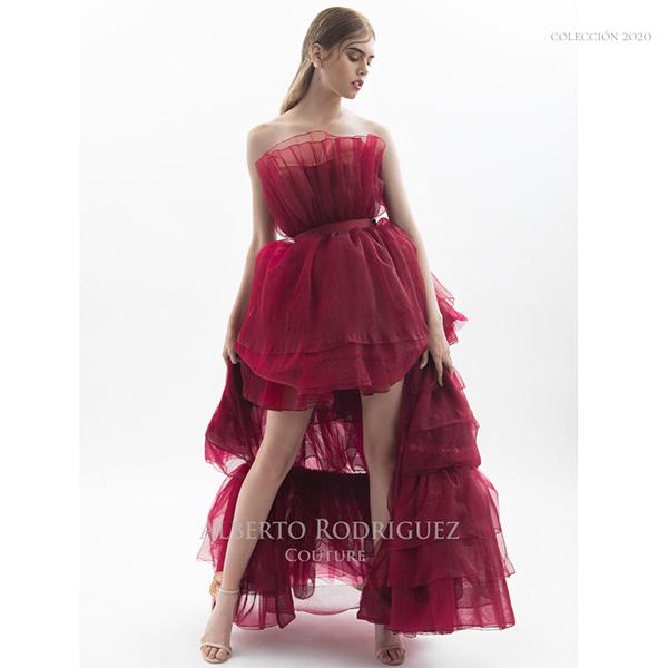 vestido con falda desmontable