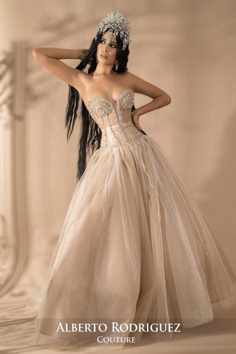 2 piezas corsete ajustable con bordado de pedrería plata